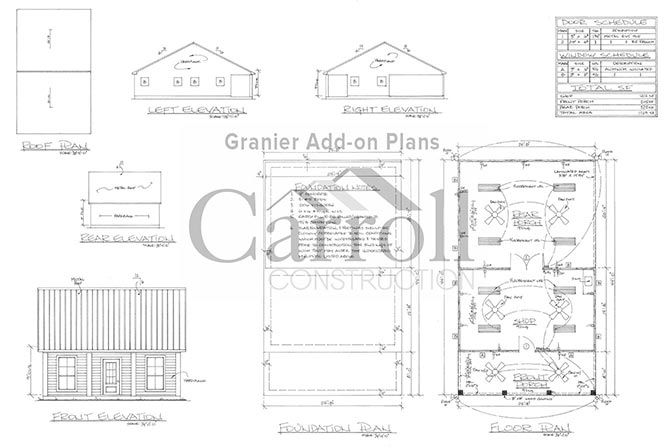Outdoor kitchen plans for Carroll Construction