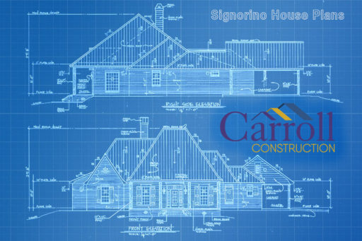 Blueprints and house plans for new construction