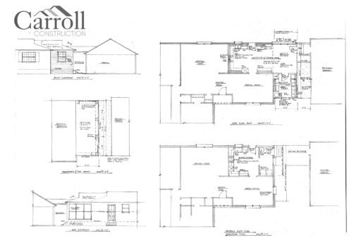 Blueprints for custom renovation and remodeling project