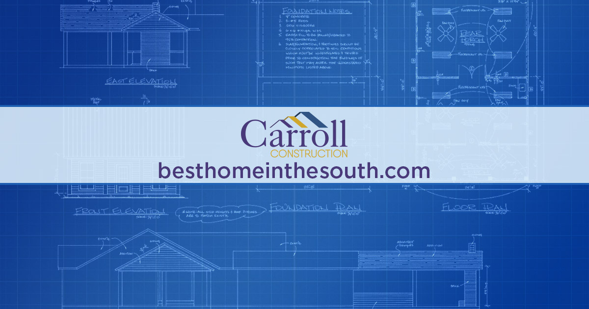 Construction blueprint carroll construction a louisiana home builder residential building contractors in baton rouge malvernweather Gallery